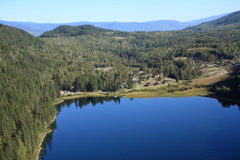 Alpine Meadows Aerial View No Fire