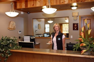 Alpine Meadows Resort reception desk