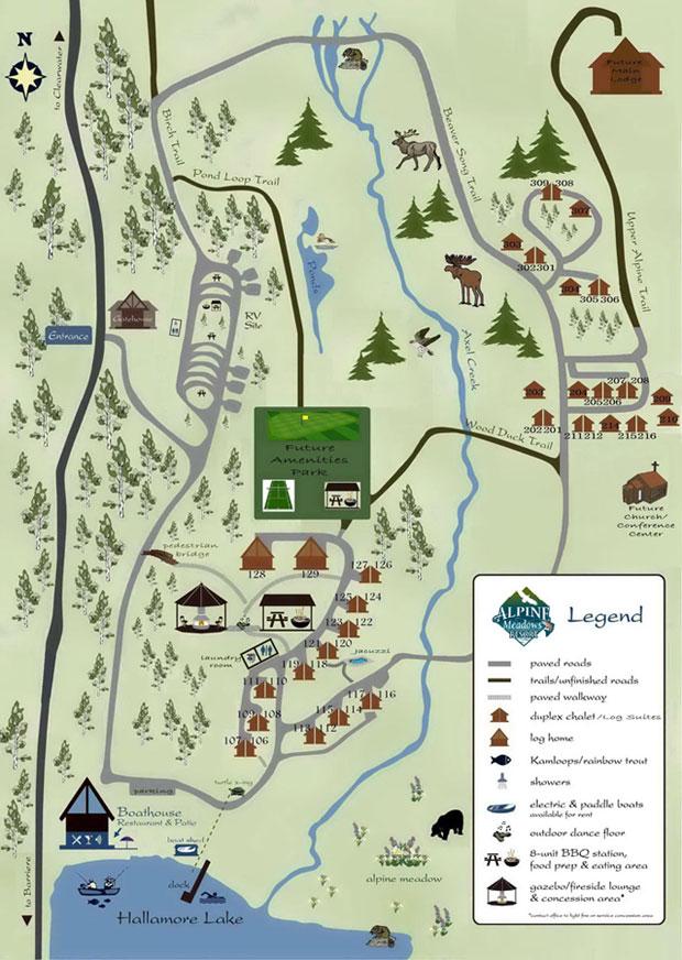 Alpine Meadows Resort Map