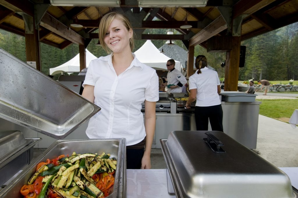 Girl working at Alpine Meadows Resort