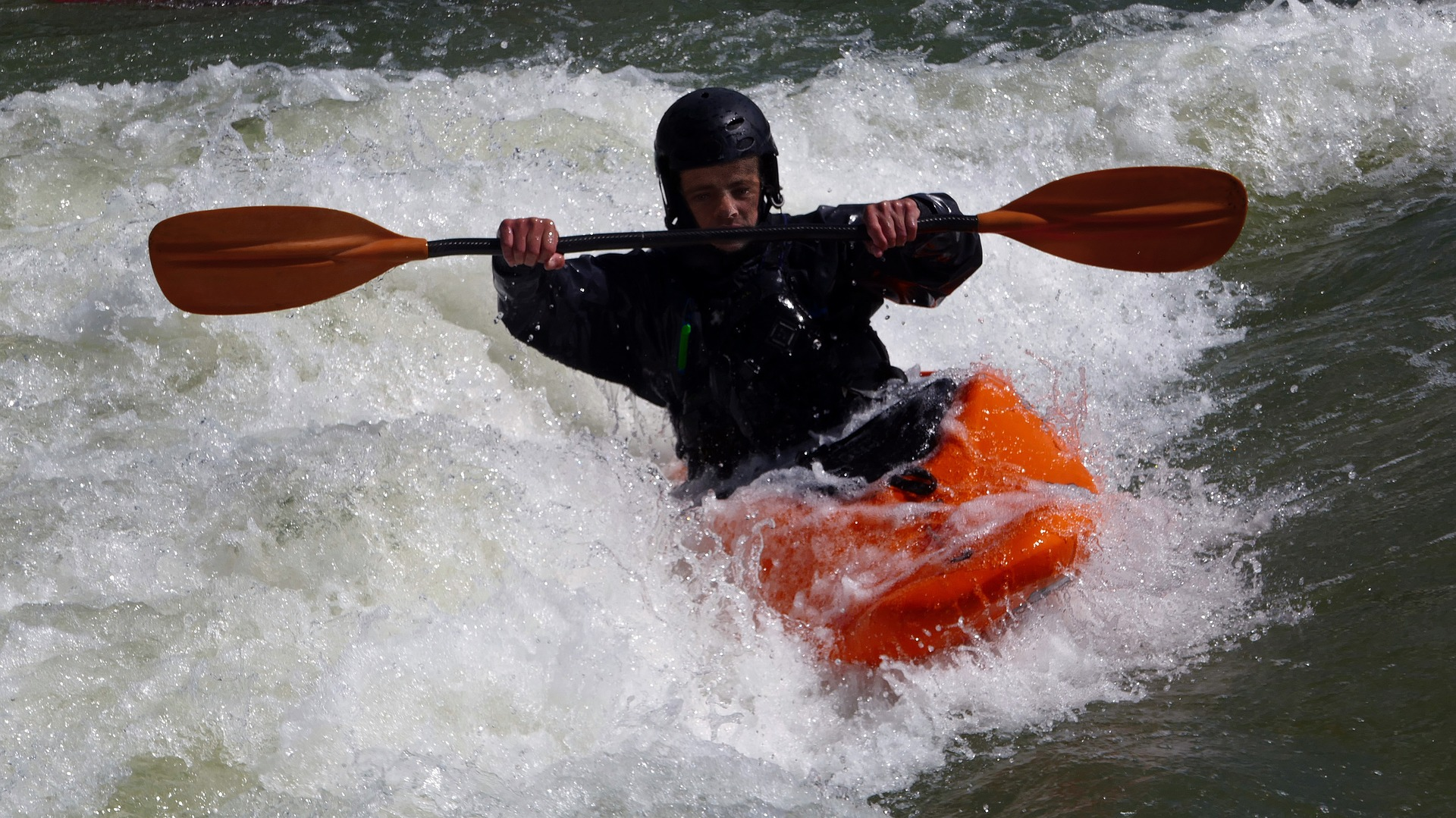 Whitewater Kayaker on Clearwater River