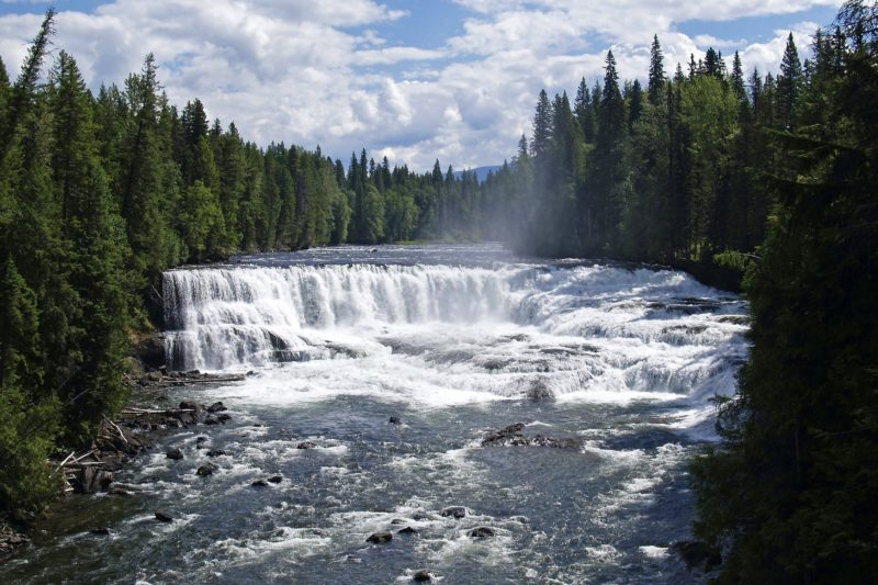 Dawson Falls at Wells Gray Park
