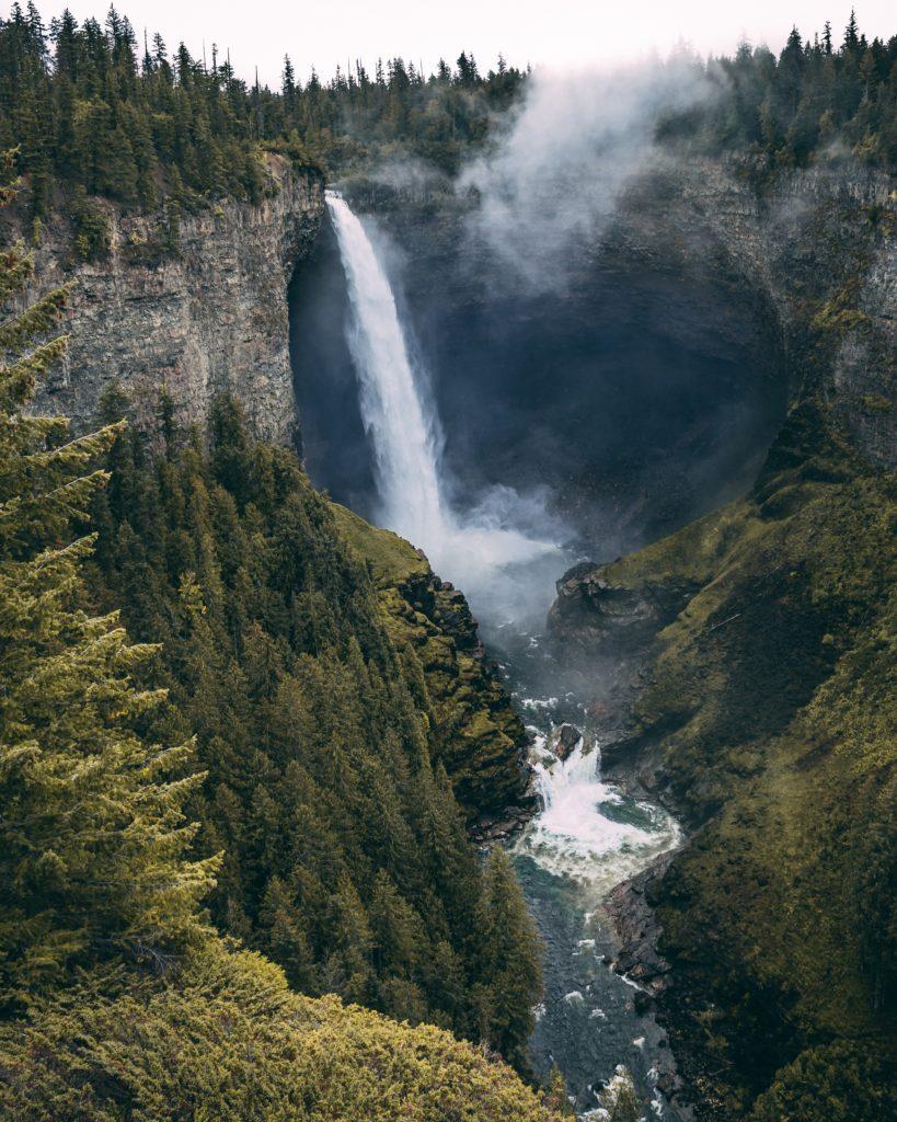 Wells Gray Park waterfall
