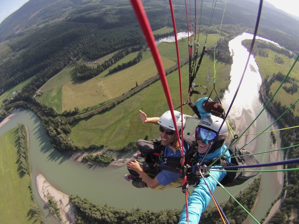 XSky Tandem Paragliding Clearwater Wells Gray Park